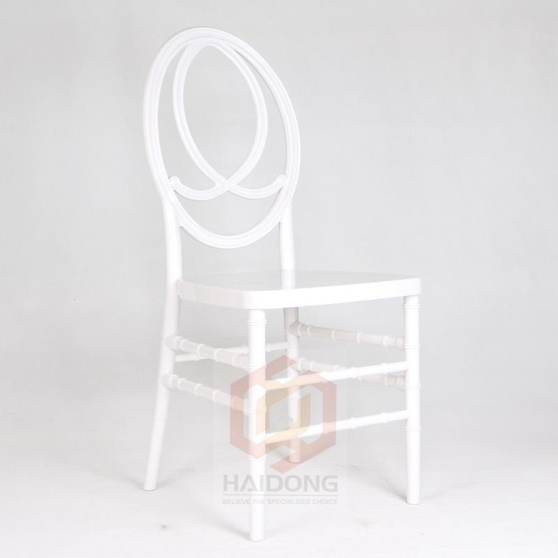 White PC Plastic Resin Wedding Infinite Phoenix Chair