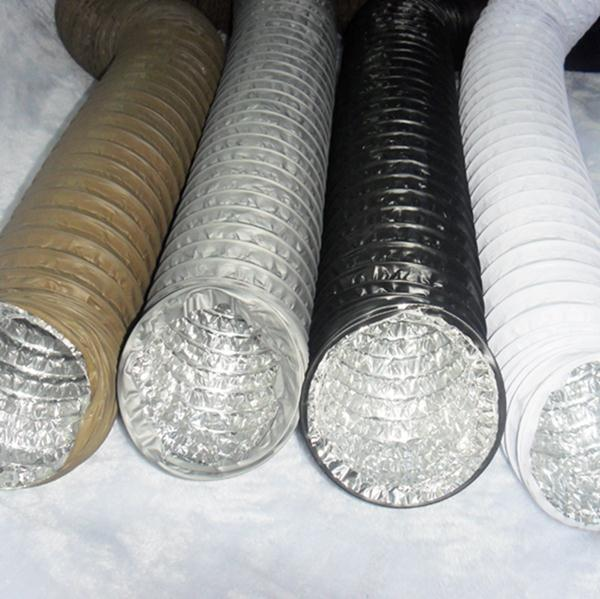 Spiral Pvc Oval Air Duct Air Conditioning Plastic Ducts