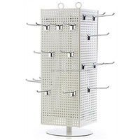 60 Hooks countertop rotating jewelry display stand