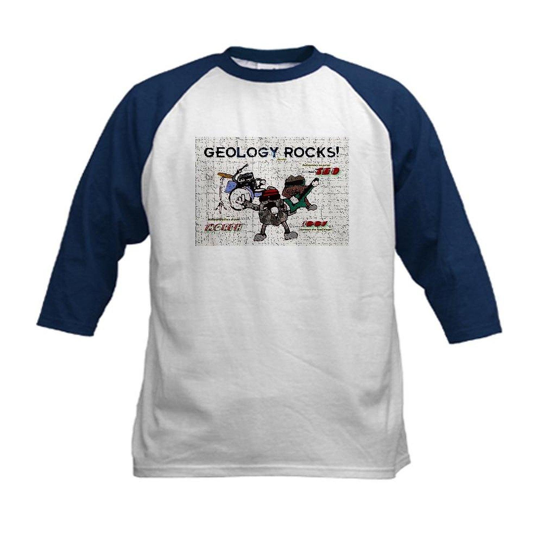 50eb8c36e Get Quotations · CafePress - Geology Rocks Kids Baseball Jersey - Kids  Cotton Baseball Jersey, 3/4