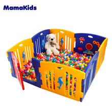 High quality China factory Indoor Plastic Large Baby Playpen With Gate Children Game Fence