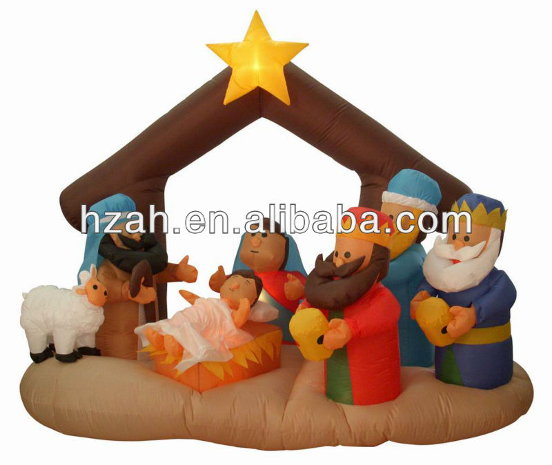 Christmas Inflatable Nativity Scenes Yard Decor Buy Inflatable