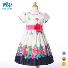 Hot Selling Summer New Model Girls African Print Cotton Frocks Designs Daily Wear Fashion Dress L-96