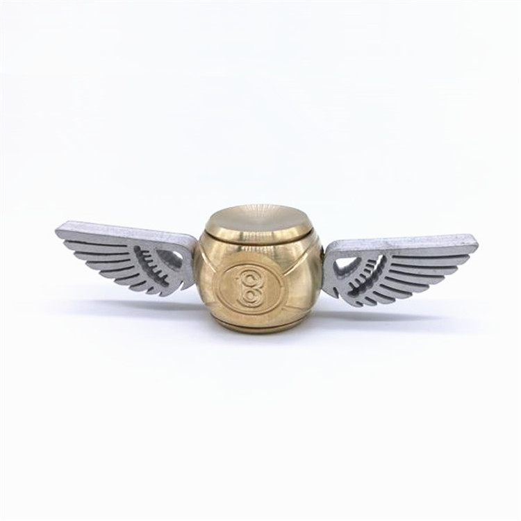 New Cupid Car Logo Angel Wings Fidget Spinner Brass Bentley Golden Snitch Hand Spinner With R188 Bearing