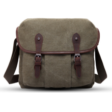Durable shoulder strap blank cotton canvas messenger bag