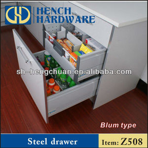 Silent Kitchen Cabinet Soft Closing Steel Drawer