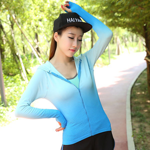 Colorful Yoga Coat Women Sports Top Sweater Quick Dry Long Sleeve Hoodies Coat