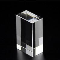 Factory outlets K9 crystal square 3D laser engraving blank white cube supplies wholesale
