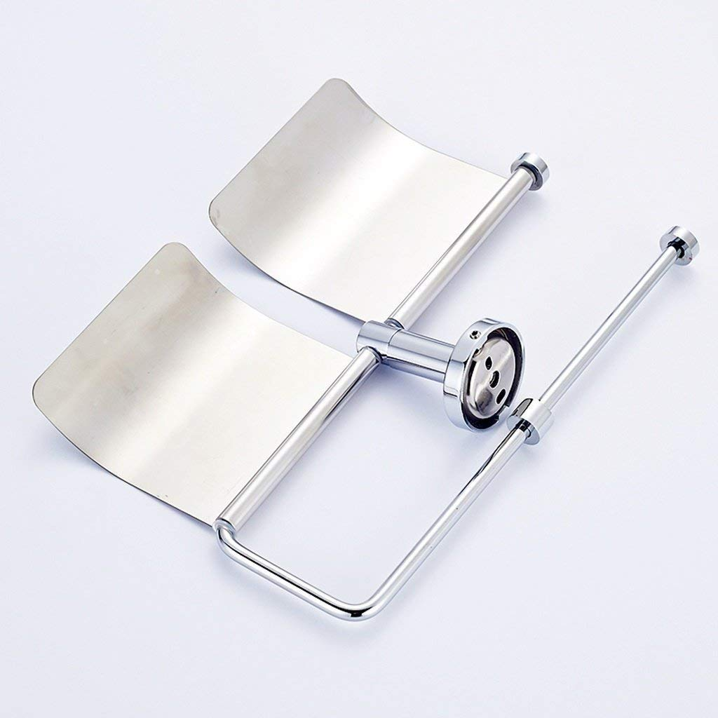 NAERFB Stainless steel double roll paper towel holder bath rooms toilet paper holder toilet paper roll holder reel