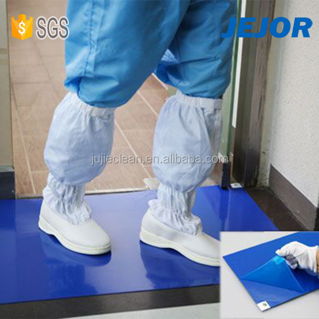 26'' X45'' 35um Blue Esd Disposable Cleanroom Decontaminating Sticky Mat