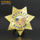 High Quality United States 3D Security Officer Sheriff Badge custom gold lapel pins