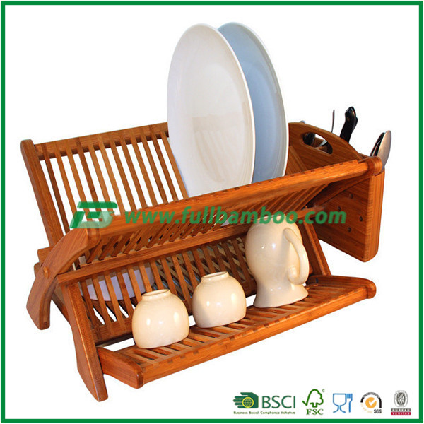 art and practical wooden dish drying rack