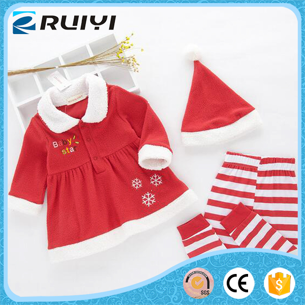 Wholesale lamb wool Christmas outfits for babys