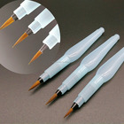 Free Sample 3PCS/Set Yellow Synthetic Nylon Water Brush Pen Set with Plastic Handle
