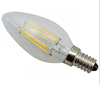 Dimmable led filament bulb gold cover/ milky cover E14/E12 LED candle light