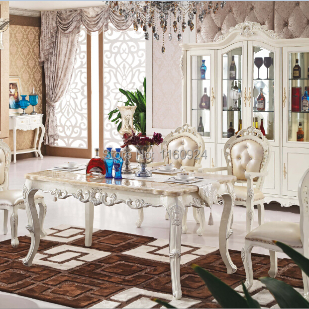 Luxurious Dining Room Sets: Luxury Wooden Dining Room Furniture : 1 Long Dining Table