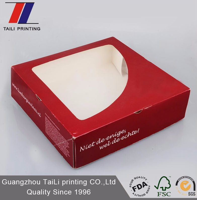 Flat window packaging box for donut/custom printed Donut Boxes