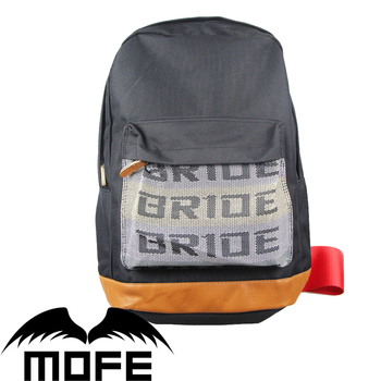 4811a95ff8d Mofe JDM Bride Racing Backpack Seat Fabric Straps Harness Zipper Padded  Bonus Red Keystrap Backpack Bag