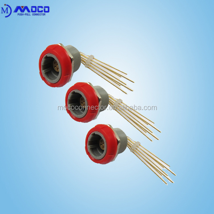 Factory direct sale 2 pin to 14 pin plastic curved needle socket female connector