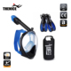 Easy to breath full face snorkel mask and fins dry bag snorkel set