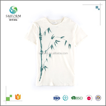 Chinese Style Bamboo O-Neck Short Sleeve T-Shirt For Women