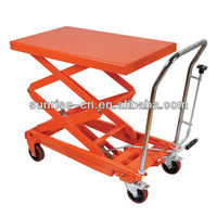 350kgs Hydraulic double scissor Lift Table truck with CE