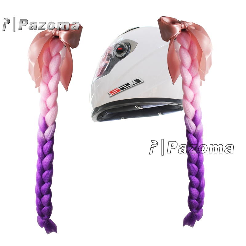 Various Colors Braids Ponytail Hair for Most Motorcycle Dull Helmet Besides Matte