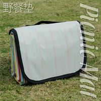 Top selling Faille leather go for outing folding beach mat