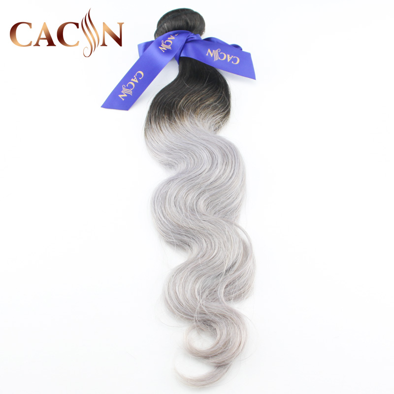 Soft and smooth 100% human ombre hair braiding hair, grey human hair for braiding