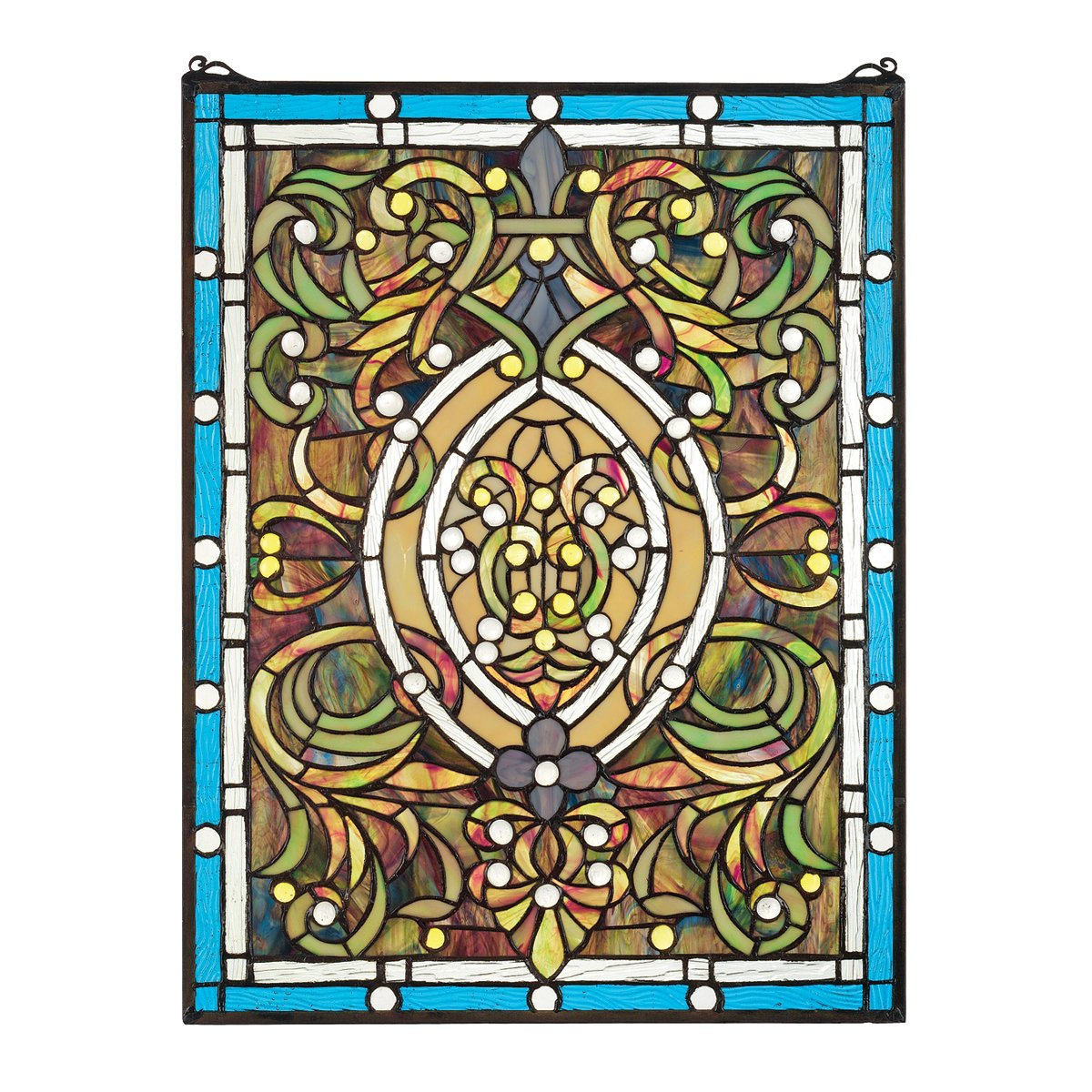 Stained Glass Panel - Beguiled in Blue Stained Glass Window Hangings - Window Treatments