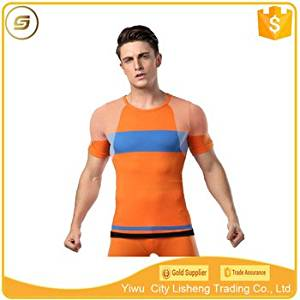 60450745878 70 nylon 25 polyester 5 spandex mens sports t-shirt made 119840jp in qnznz2014 China - This is additional title Product Type: Sportswear Sportswear Type: Fitness & Y