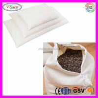 E297 100% Cotton Sleep Pillow with Buckwheat Husk Stuffing Case Zipper Buckwheat Husk Pillow