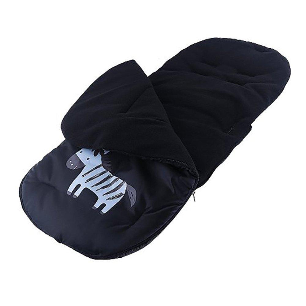 Lemonda Universal Windproof Infant Baby Stroller Sleeping Bag Footmuff Car Seat Bunting Bag Stroller Carriage Foot Cover (Black)