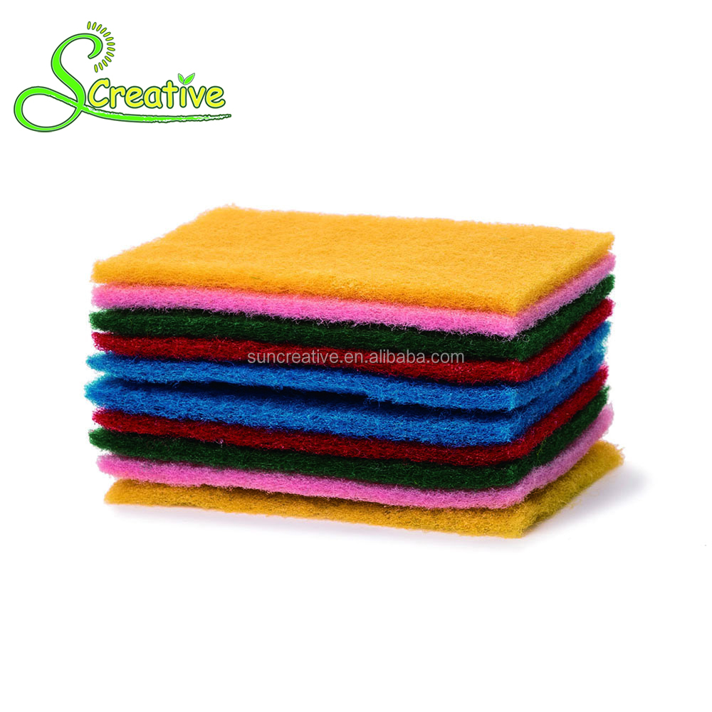 Heavy duty household cleaning green scouring pad