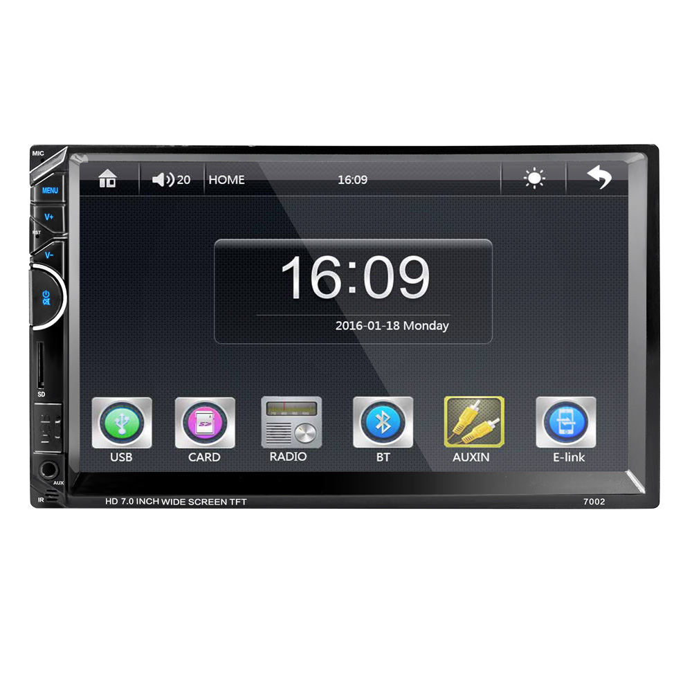 "autoradio Car stereo 2 din 7"" auto player Bluetooth+Radio+RDS+AM+mirror link+USB charger+U disc player+Touch Screen+ audio MP5"