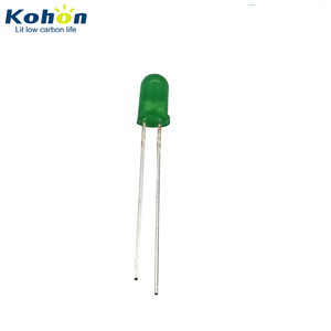 Super brightness and factory price 5mm through hole green color LED