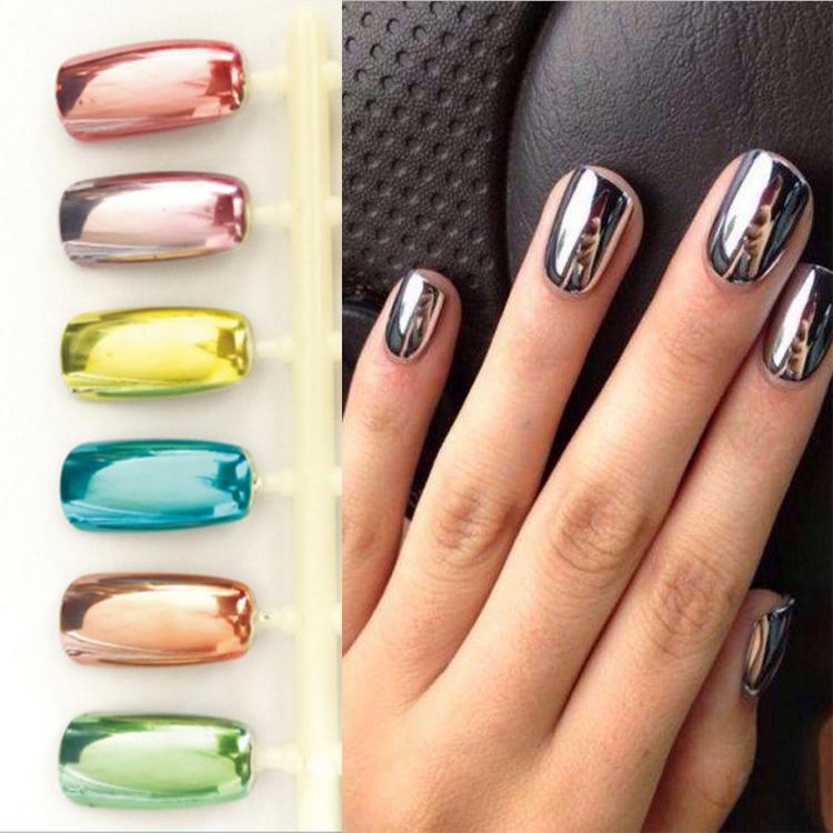 AAA uñas efecto espejo esmalte de uñas luz alta aceite personalizado ...
