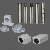 Linear motion shaft support unit assembly
