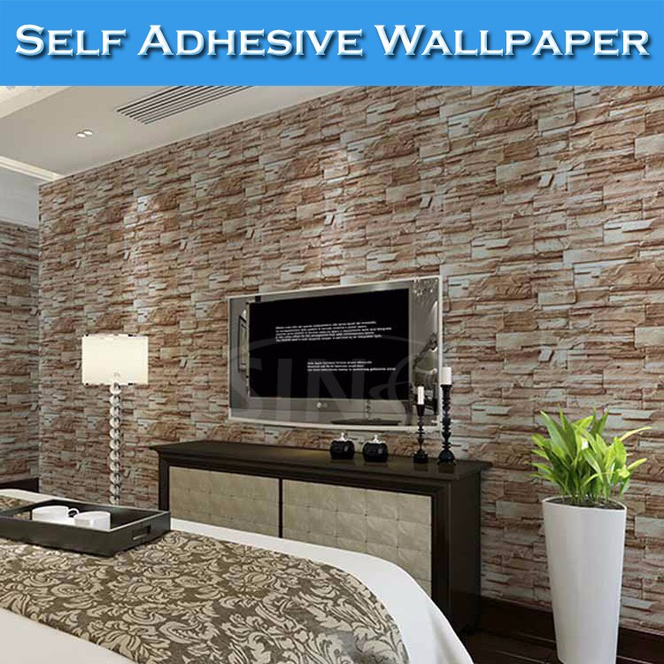 Sino Latest Designs Living Room Waterproof Wallpaper 3d Brick   Buy  Wallpaper 3d Brick,Waterproof Wallpaper,3d Wallpaper Product On Alibaba.com