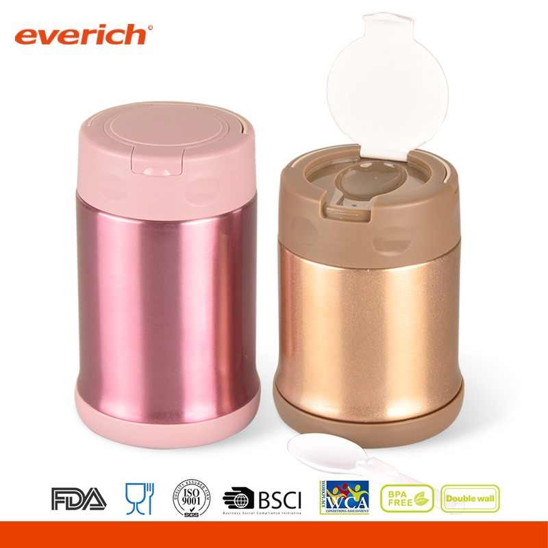 350ml/500ml Stainless steel thermo food jar for kids