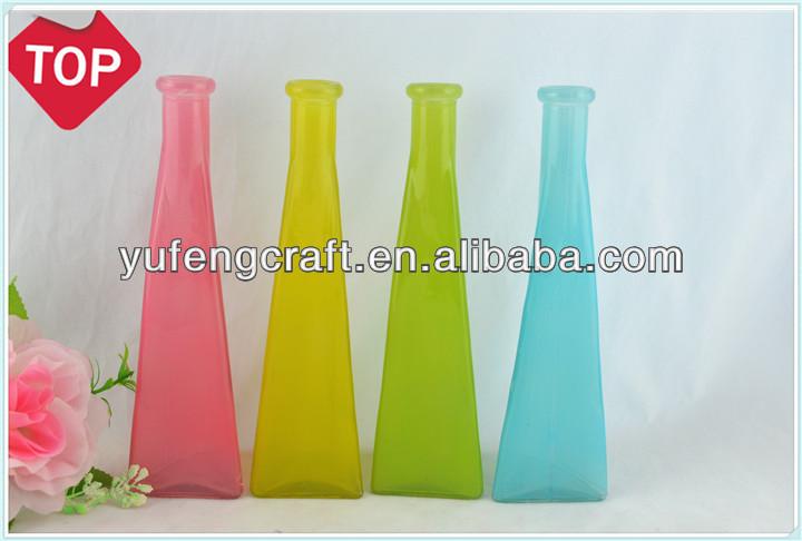 colorido jarrn de vidrio soplado acrlico florero