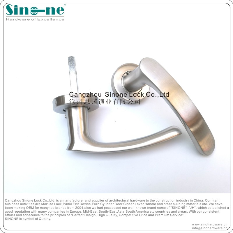 Rosette Handles double sided solid lever stainless steel modern door handles china manufacturer