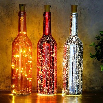 Wholesale best selling products Colorful 3.3ft 10LED Starry battery wine bottle cork Lights for Xmas
