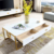 Modern tea tables white and gold furniture stainless steel frame centre table with drawer
