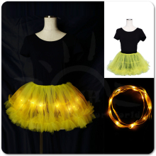 LED Lumière Adulte Tutu Jupe pour Costume/<span class=keywords><strong>Rave</strong></span>/SCI/Cosplay