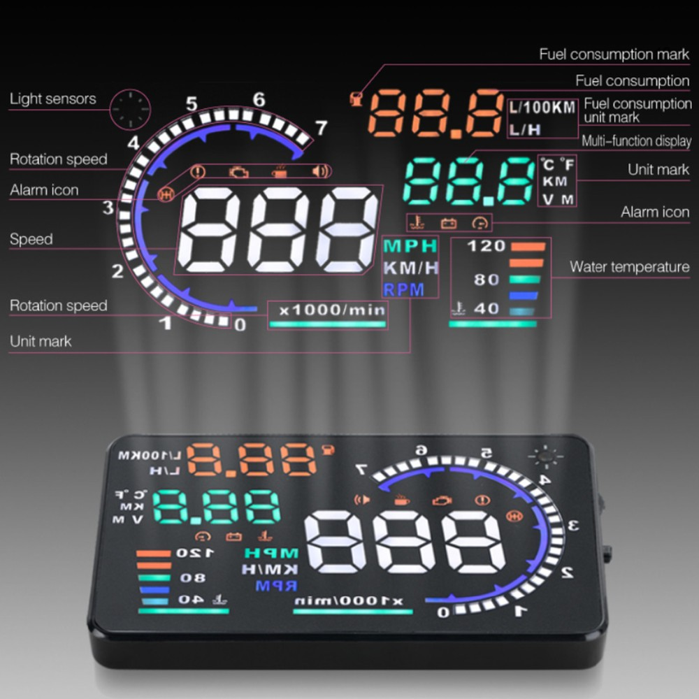 A8 Hud Speed Monitoring Devices Car Hud A8 Car Speed Meter Head Up Display  Car Manufacturer A8 Hud Monitor Display Speed - Buy A8 Hud,A8 Head Up