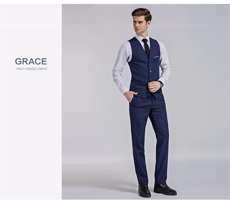 Pant Coat Design Men Wedding Suits Pictures 3-colors Blue Color ...