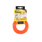 2mm 15m Trimmer Line Monofilament Orange Card Head Packing Hand Held Weeding Machine 52CC Height Adjustable Handles