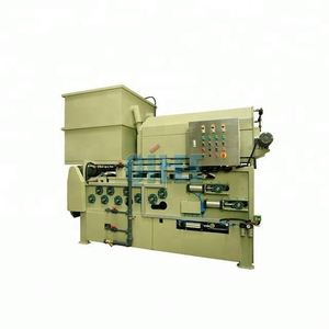 Sludge slurry dewatering belt filter press