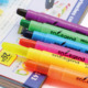 gel highlighter gel wax highlighter pen solid highlighter crayon stationery sets promotional gift
